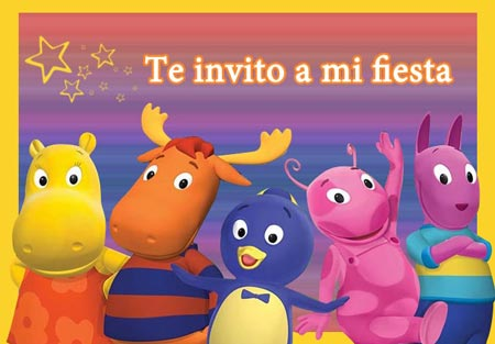 Invitacion de Backyardigans