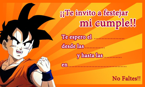 dragon-ball-z-invitacion- ...