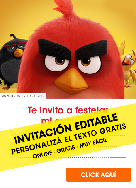 8 Free ANGRY BIRDS Birthday Invitations For Edit Customize Print