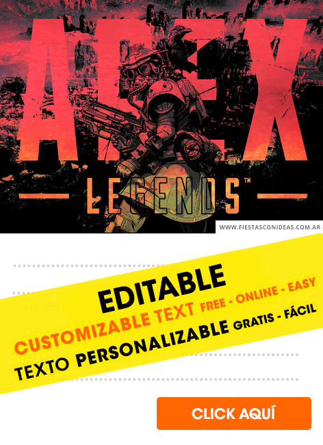 12 Free Apex Legends Birthday Invitations For Edit