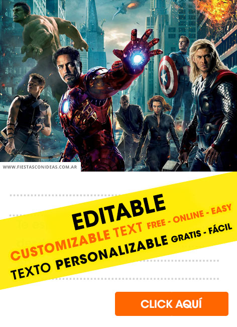 22 Invitaciones De Avengers End Game 2019 Gratis Free