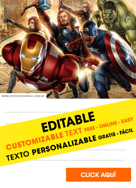 21 Free Avengers Birthday Invitations For Edit Customize
