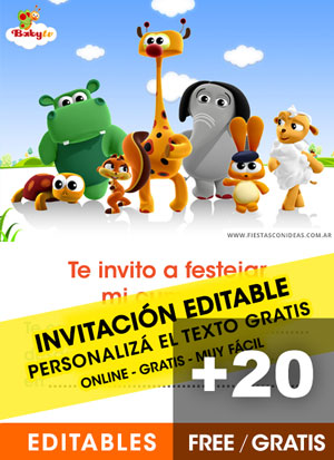 Free Baby TV Birthday Invitation