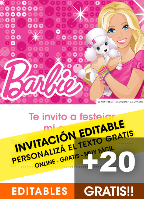 Barbie Free Birthday Invitation Templates Fiestas Con Ideas