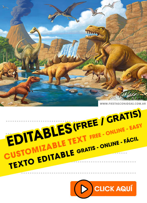 Dinosaurs birthday invitation