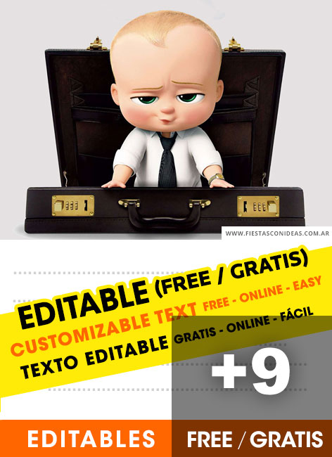 9 Free The Boss Baby Birthday Invitations For Edit