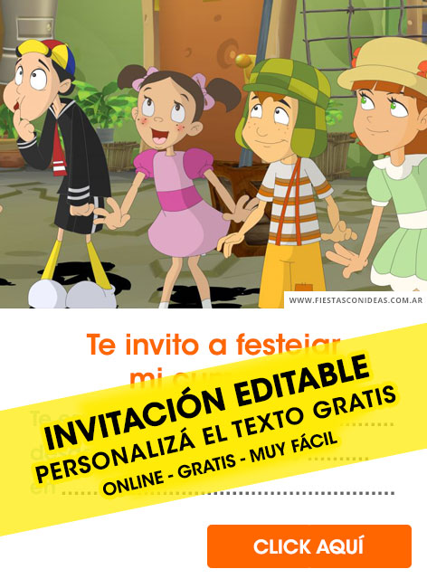 El Chavo del 8 birthday invitation