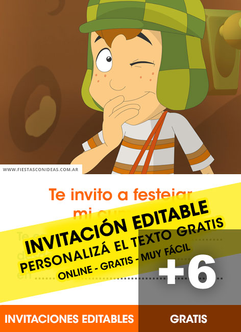 Free El Chavo del 8 birthday invitations
