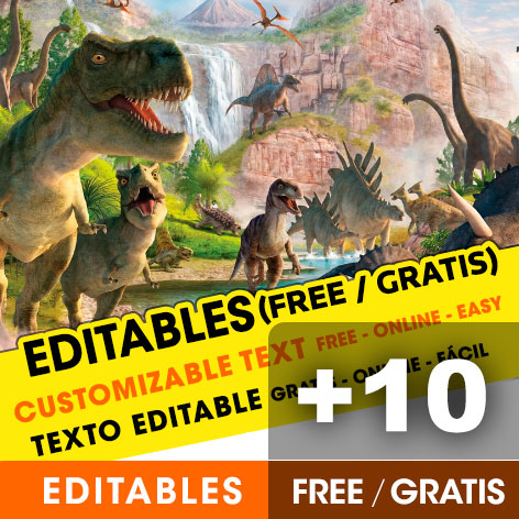 Free Dinosaurs birthday invitations