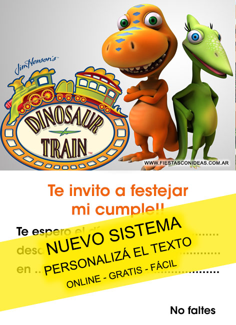 Free Dinosaur Train Birthday Invitation