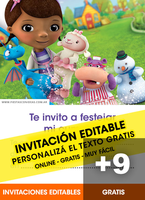 9 Free DOC MCSTUFFINS Birthday Invitations For Edit Customize Print Or Send Via Whatsapp