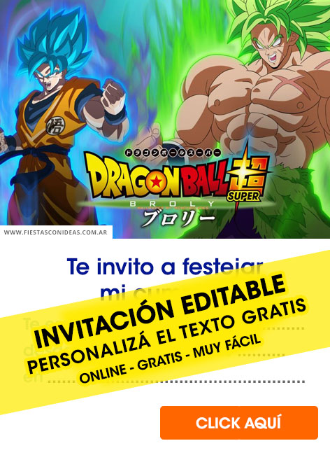 Dragon Ball birthday invitation