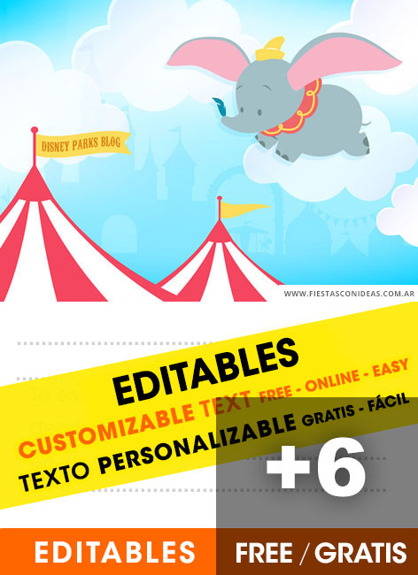 6 Free DUMBO Birthday Invitations For Edit Customize Print Or Send Via Whatsapp