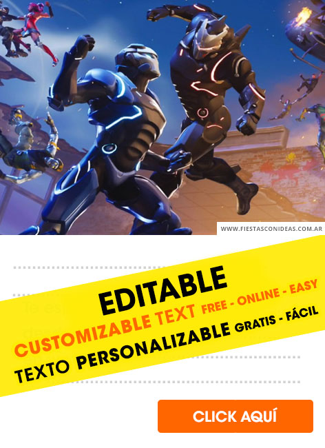 80  free fortnite birthday invitations for edit