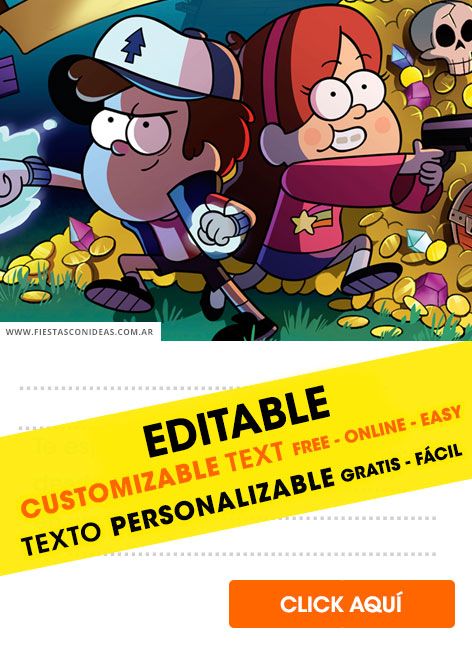 Gravity Falls birthday invitation