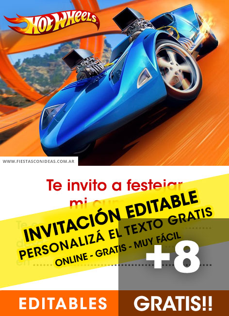 Free Hotwheels birthday invitations
