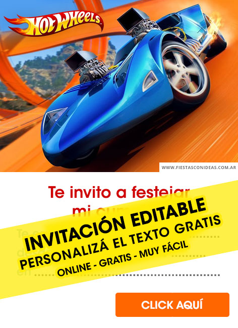 Hotwheels birthday invitation