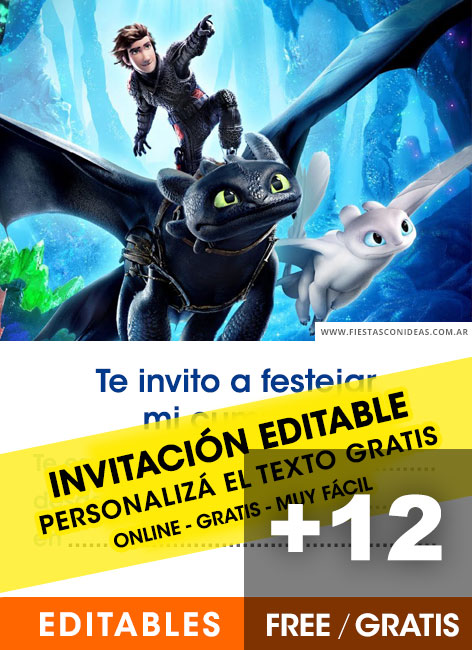 How To Train Your Dragon Free Birthday Invitation Templates Fiestas Con Ideas