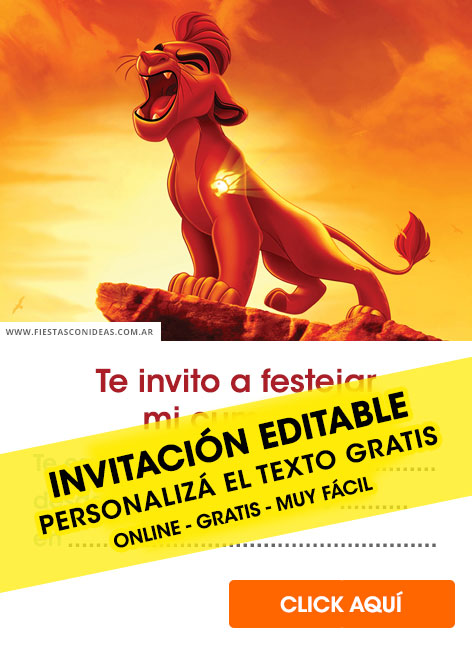 5 Free THE LION GUARD Birthday Invitations For Edit Customize