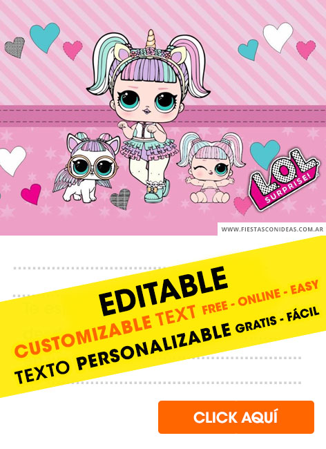 [+14] Free LOL SURPRISE birthday invitations for edit, customize, print or send via Whatsapp