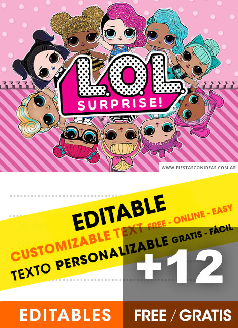 12 Free LOL SURPRISE Birthday Invitations For Edit Customize Print Or Send Via Whatsapp