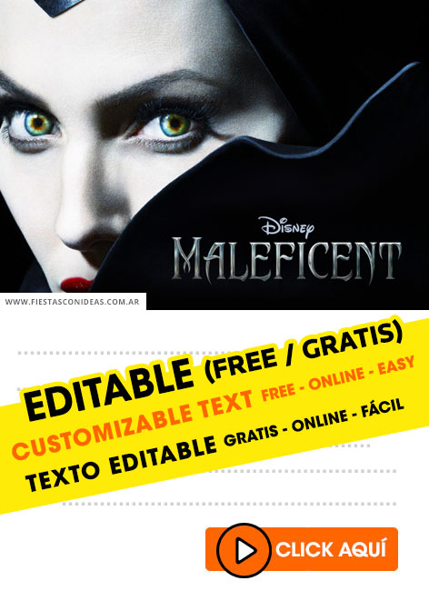 Maleficient birthday invitation