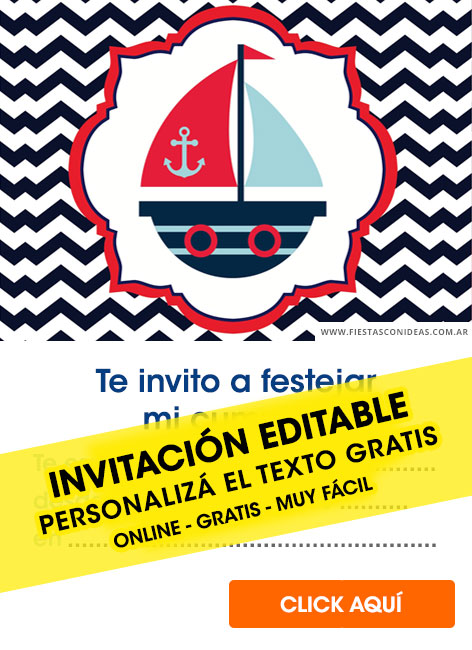 Nautical / Sailor birthday invitation