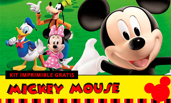 KIT IMPRIMIBLE de MICKEY MOUSE [GRATIS]