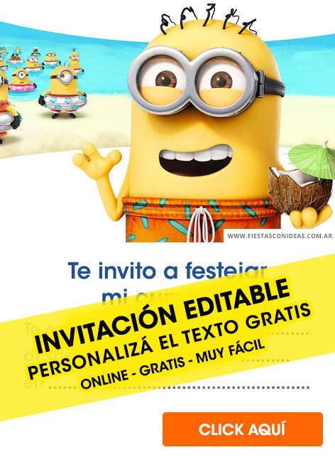 8 Free MINIONS Birthday Invitations For Edit Customize Print Or