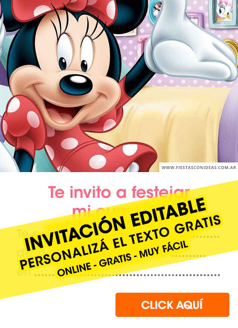 Minnie Mouse birthday invitation