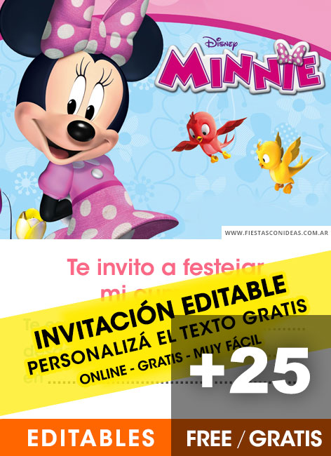 Minnie Mouse Fiestas Infantiles Con Ideas