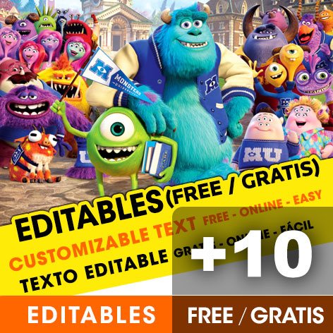 Free Monster University birthday invitations