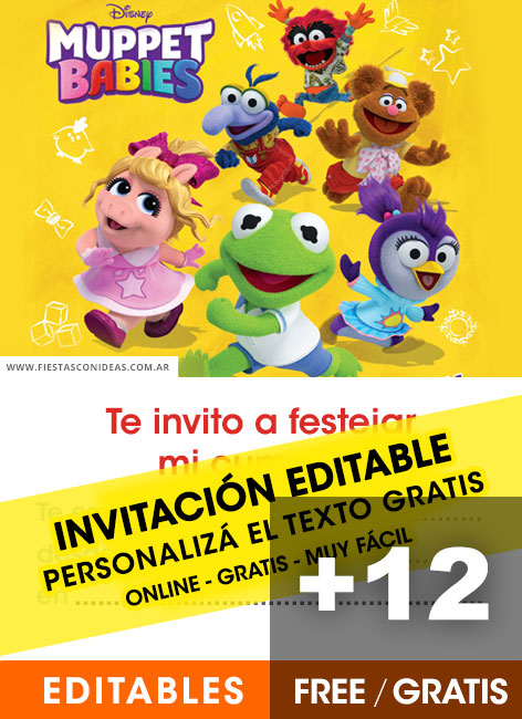Free Muppets Babies birthday invitations