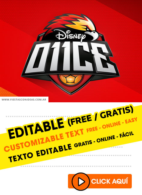 3] Free O11CE DISNEY birthday invitations for edit, customize, print