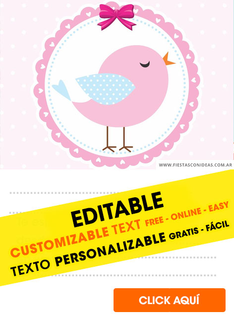 14 Free Birds Birthday Invitations For Edit Customize
