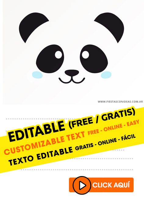 Panda Girl and Panda boy birthday invitation