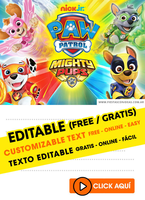 20 Free Paw Patrol Birthday Invitations For Edit Customize