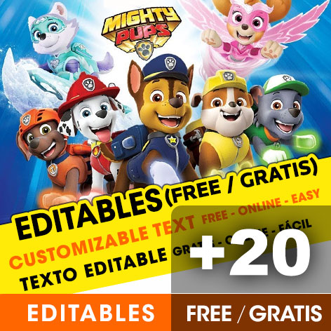 photo regarding Free Printable Paw Patrol Invitations referred to as 20] Absolutely free PAW PATROL birthday invites for edit, personalize