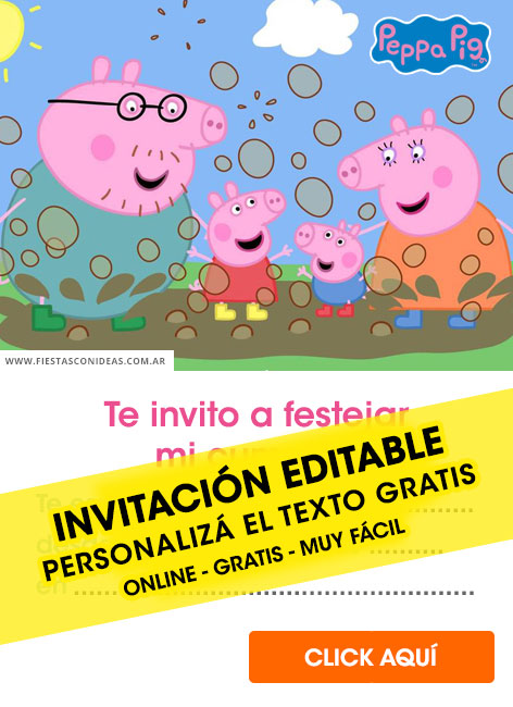 15 Free PEPPA PIG Birthday Invitations For Edit Customize Print Or Send Via Whatsapp