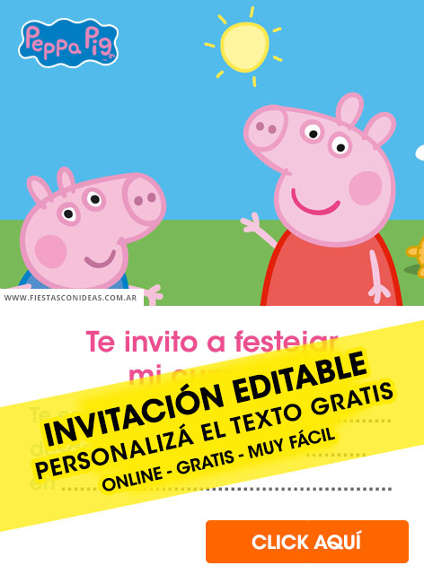 15 Free Peppa Pig Birthday Invitations For Edit Customize Print