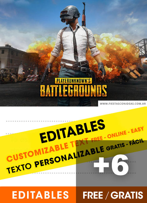 6 Free PLAYERUNKNOWNS BATTLEGROUNDS Birthday Invitations For Edit Customize Print Or Send Via Whatsapp