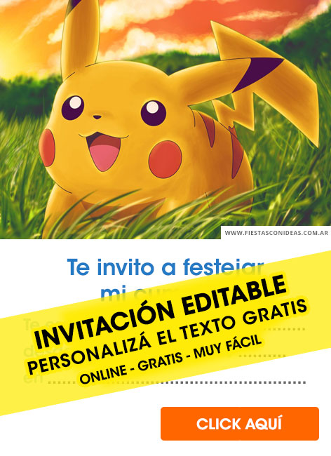 20 Invitaciones De Pokemon Pokemon Go Detective