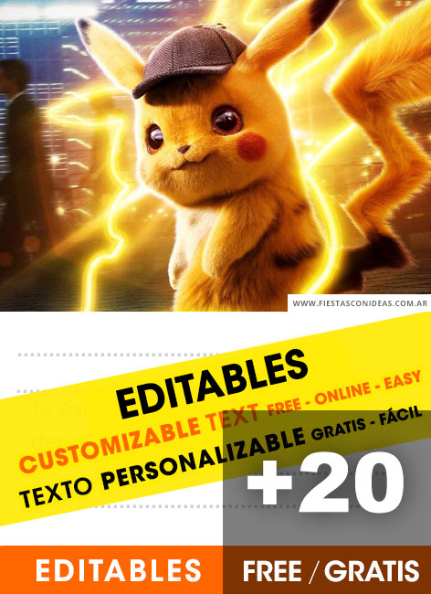 20 Free Pikachu Birthday Invitation Template For Edit Customize
