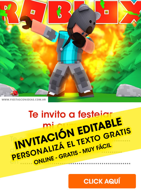 6] Free ROBLOX birthday invitations for edit, customize