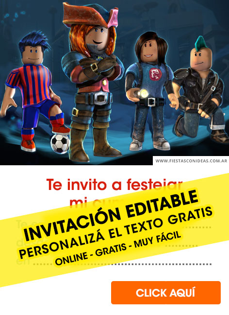6 Free Roblox Birthday Invitations For Edit Customize Print Or Send Via Whatsapp Fiestas Con Ideas