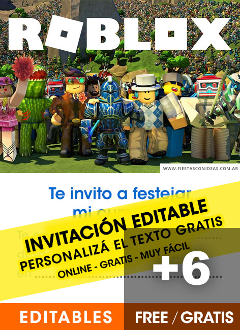 6 Free ROBLOX Birthday Invitations For Edit Customize Print Or Send Via Whatsapp
