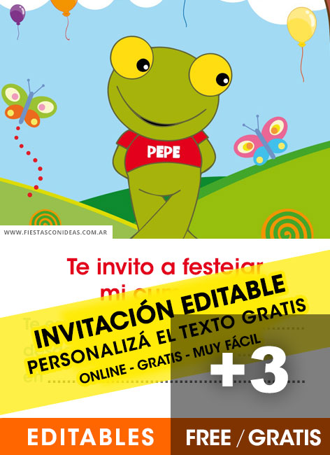 3 Free SAPO PEPE Birthday Invitations For Edit Customize Print Or Send Via Whatsapp