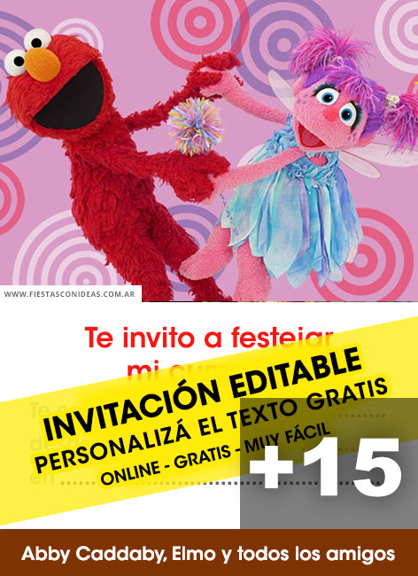 15 Free Abby Cadabby Elmo Y Amigos Birthday Invitation Template