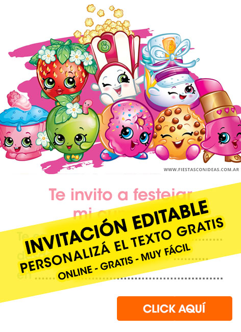 image regarding Shopkins Birthday Card Printable known as 6] Free of charge SHOPKINS birthday invites for edit, customise