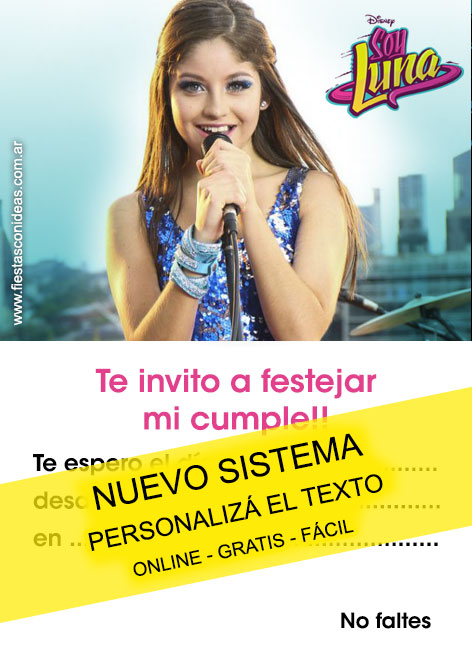 Free Soy Luna / Karol Sevilla birthday invitations